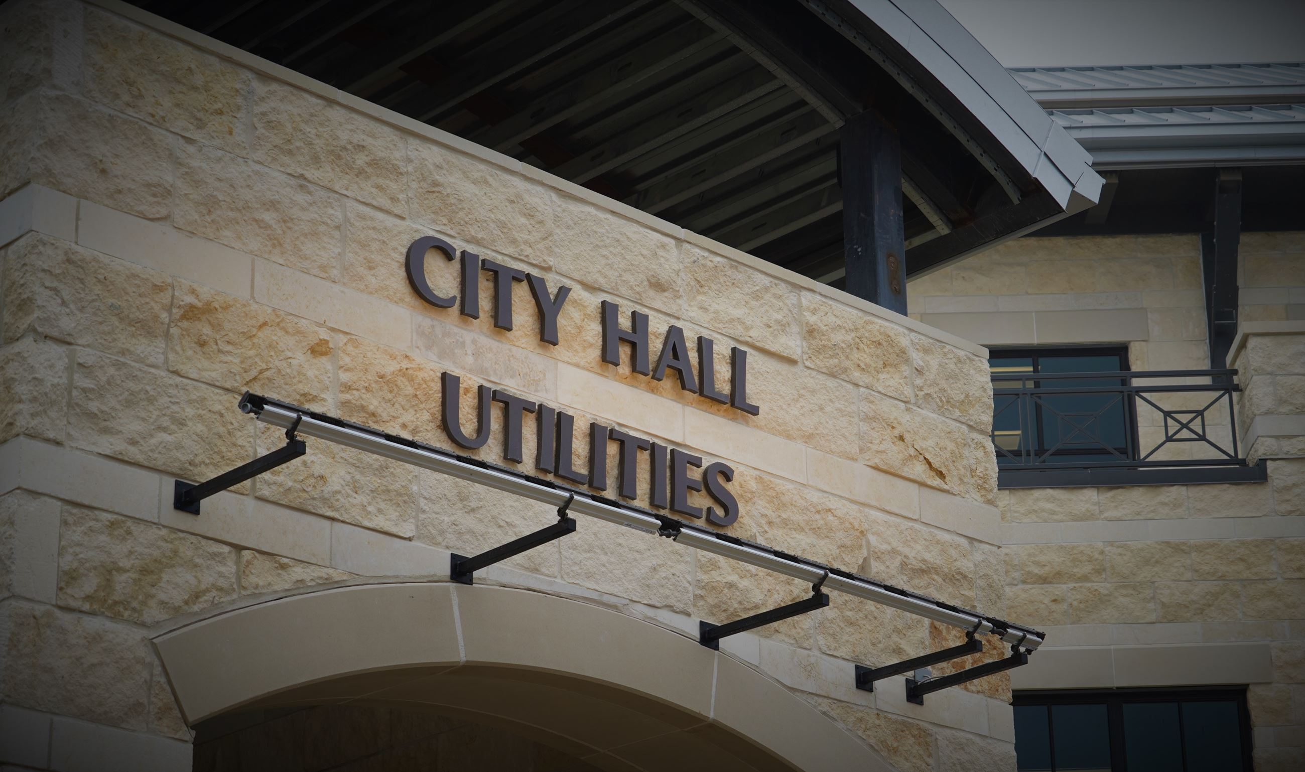 New City Hall and Utilities Signage