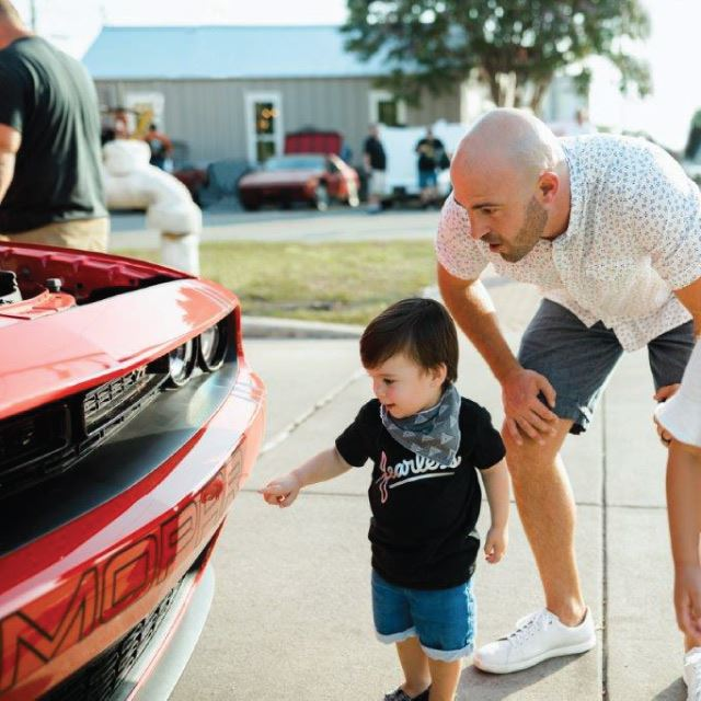 Father and Son at a Car Show in Boerne