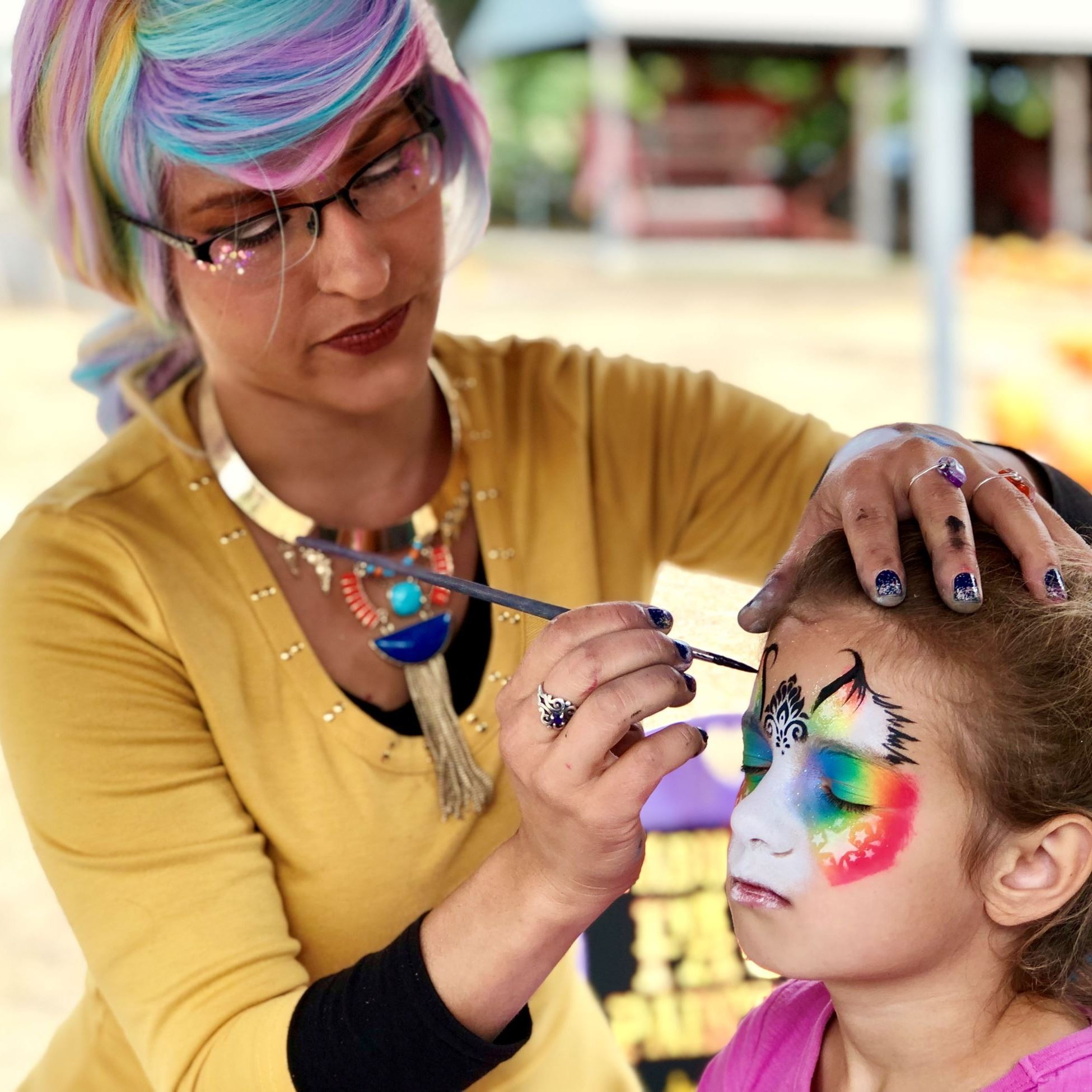 Face Painting at Antique Tractor Pull and Pumpkin Fest