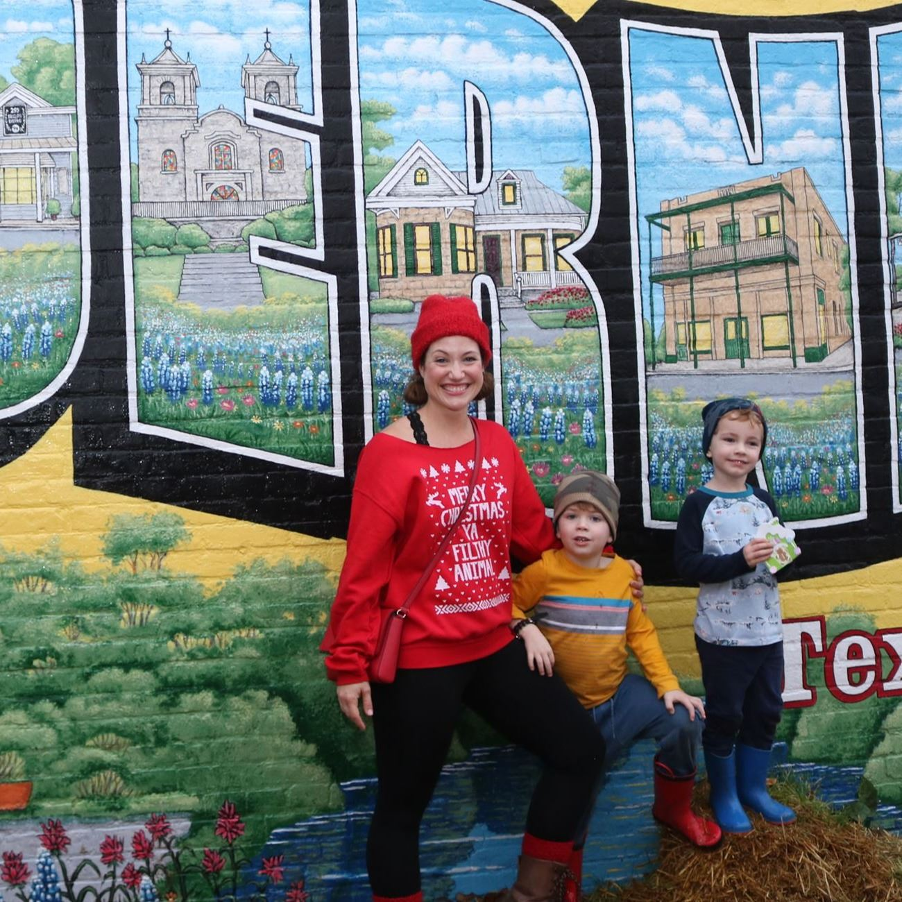Christmas Photo at the Boerne Mural