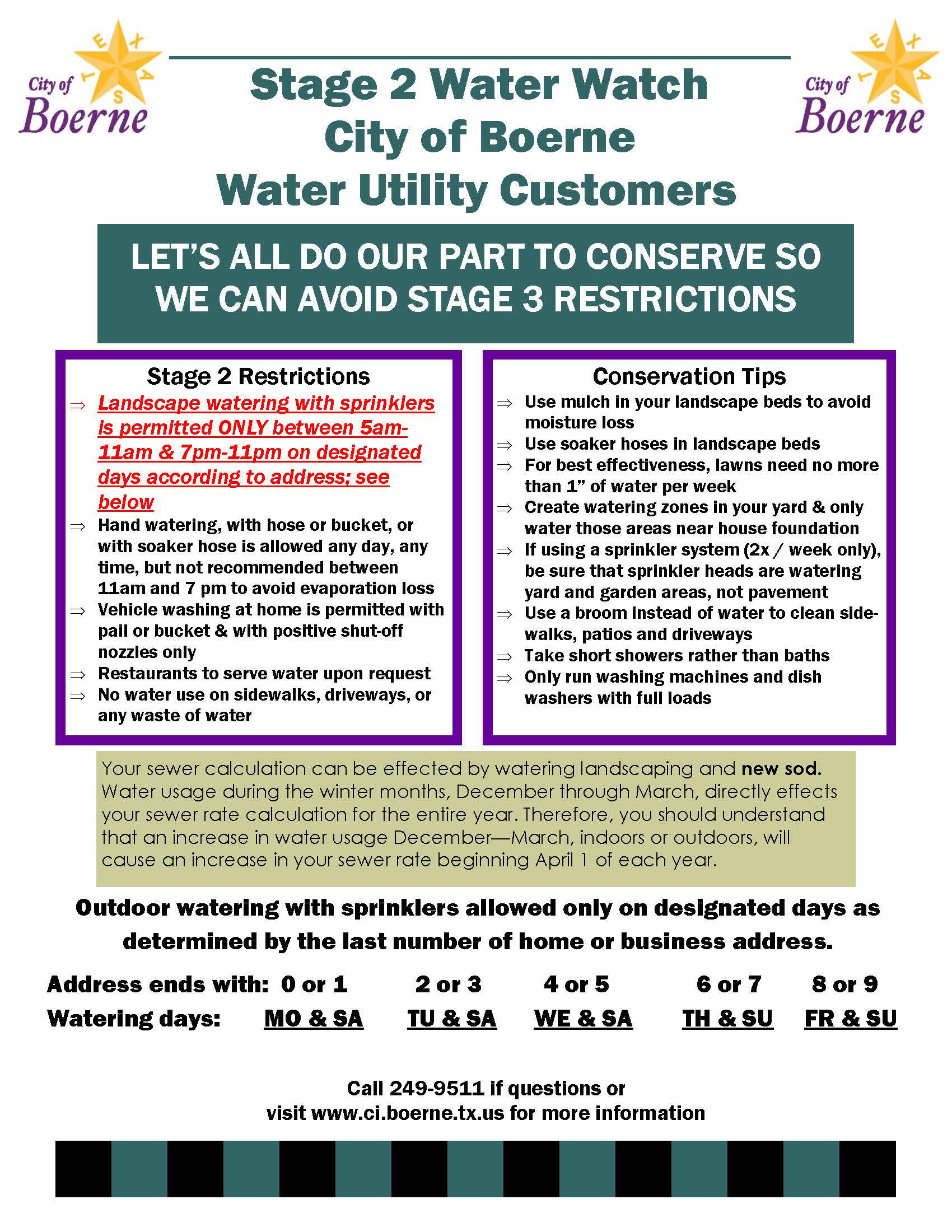 stage 2 water alert