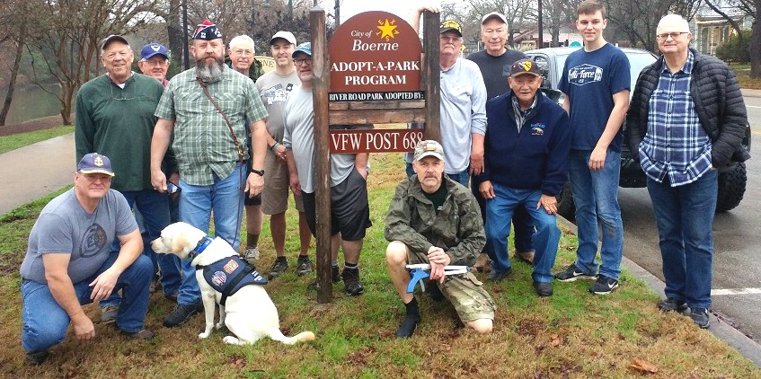 Thank you VFW POST 688 for the January River Road Park Cleanup